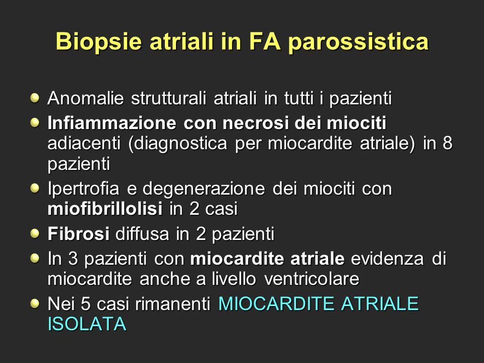 Biopsie atriali in FA parossistica