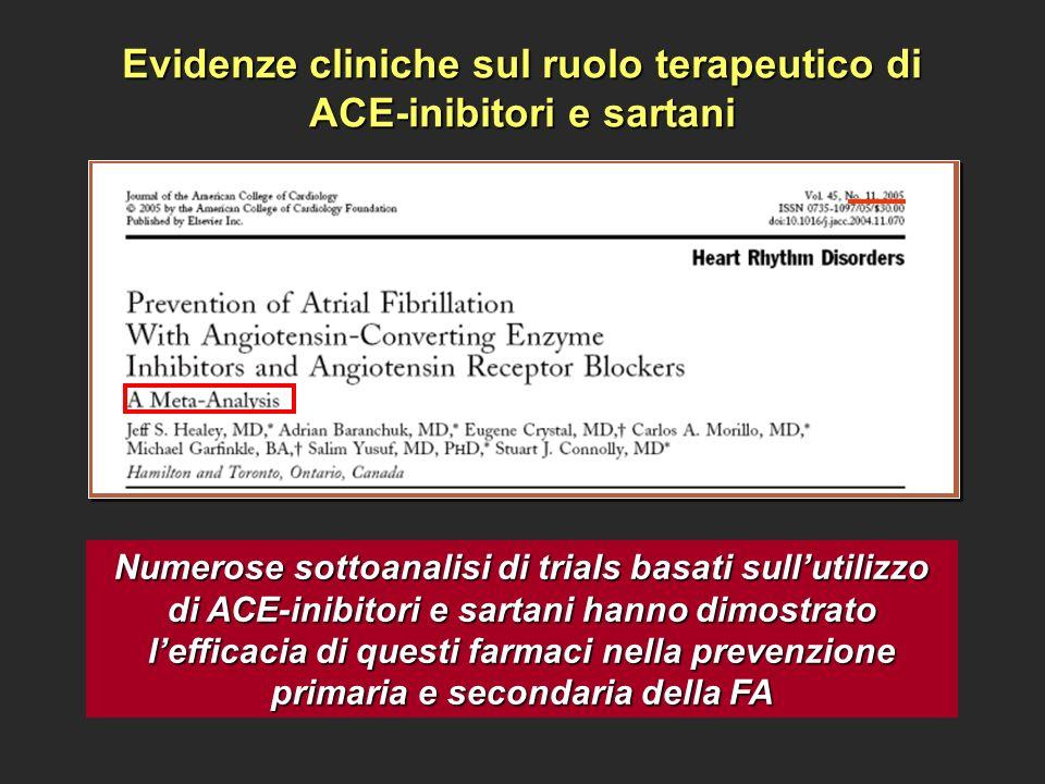 Evidenze cliniche sul ruolo terapeutico di ACE-inibitori e sartani