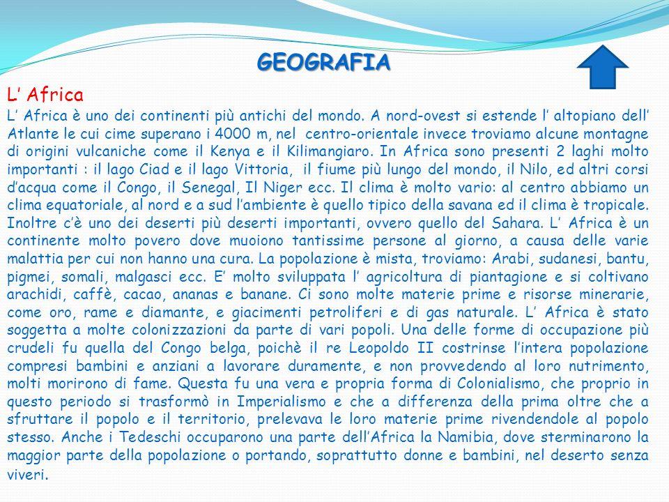GEOGRAFIA L' Africa.