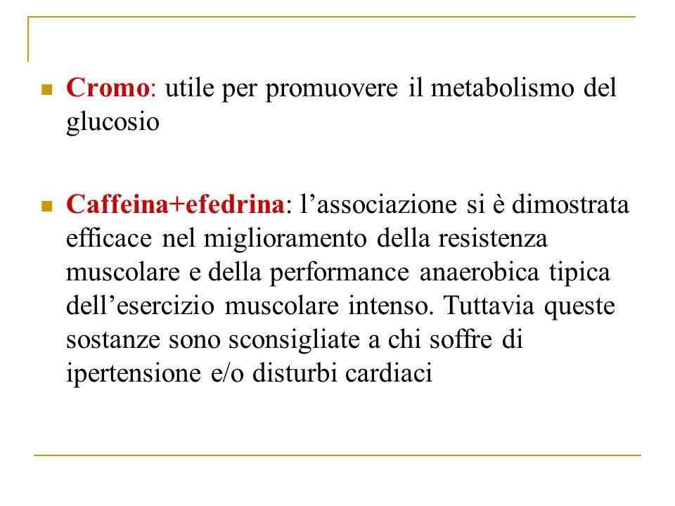 Cromo: utile per promuovere il metabolismo del glucosio