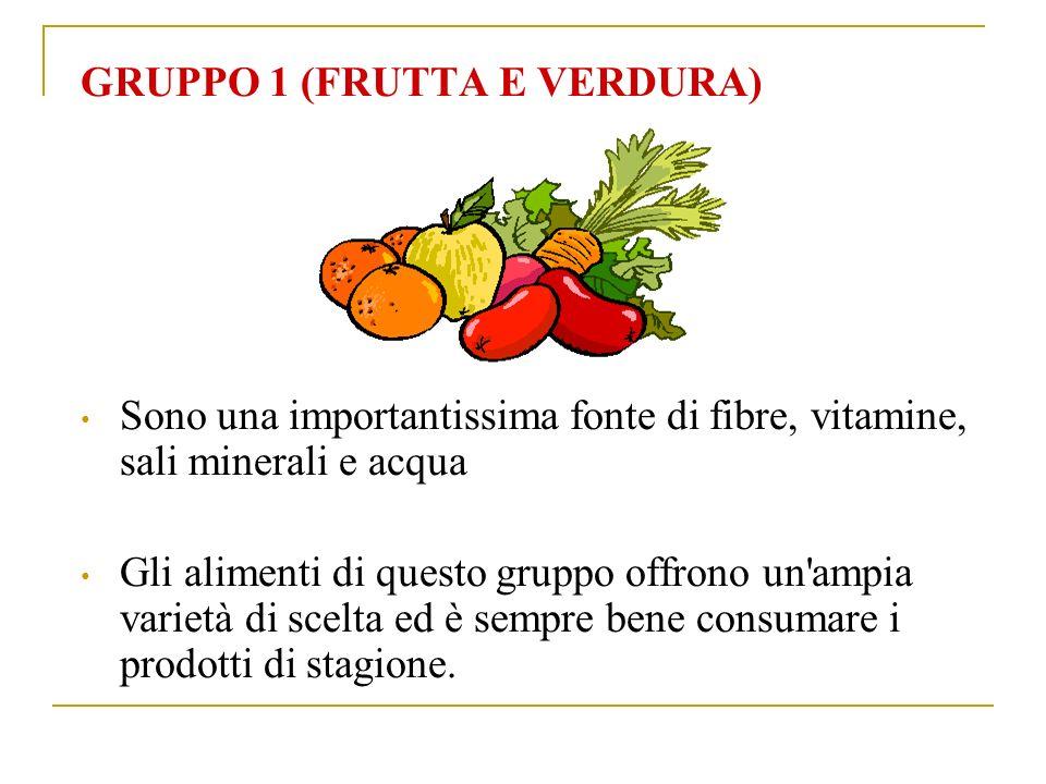 GRUPPO 1 (FRUTTA E VERDURA)