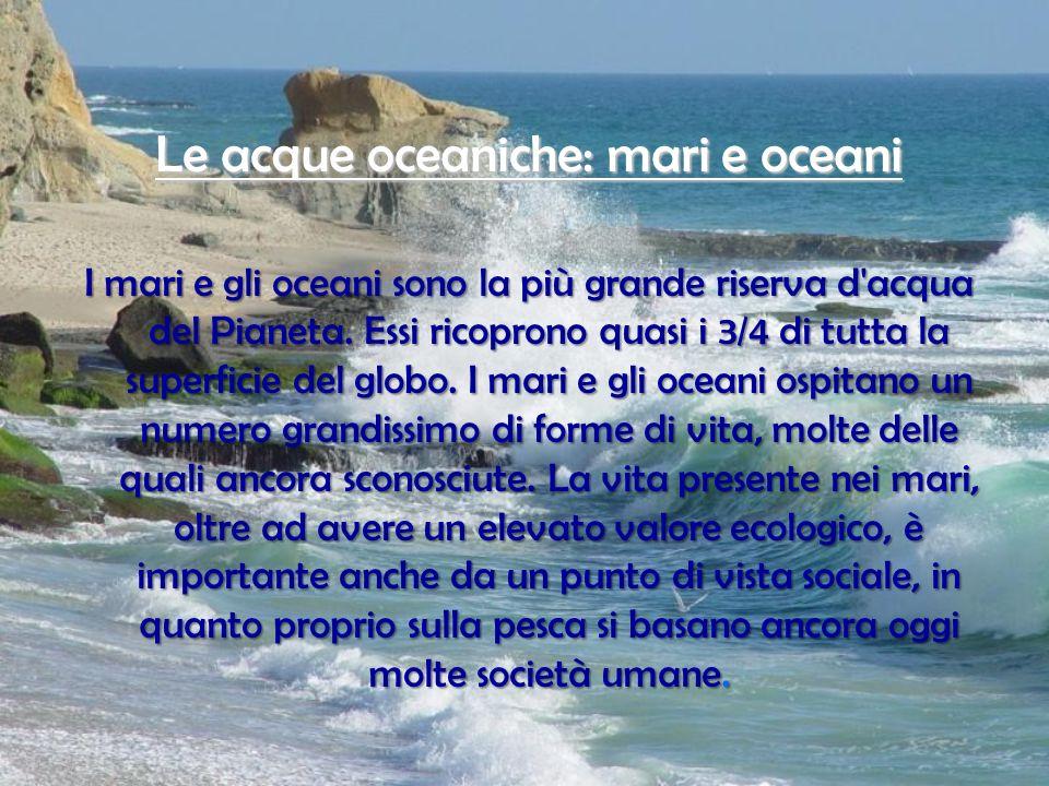 Le acque oceaniche: mari e oceani
