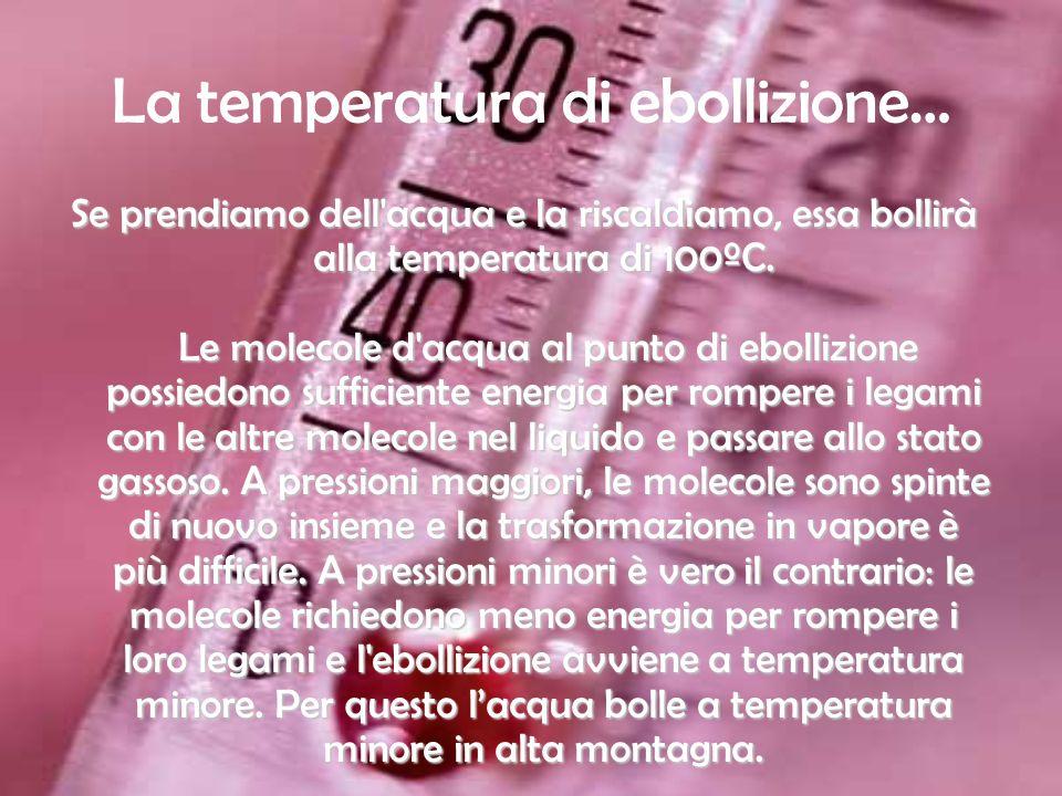 La temperatura di ebollizione…