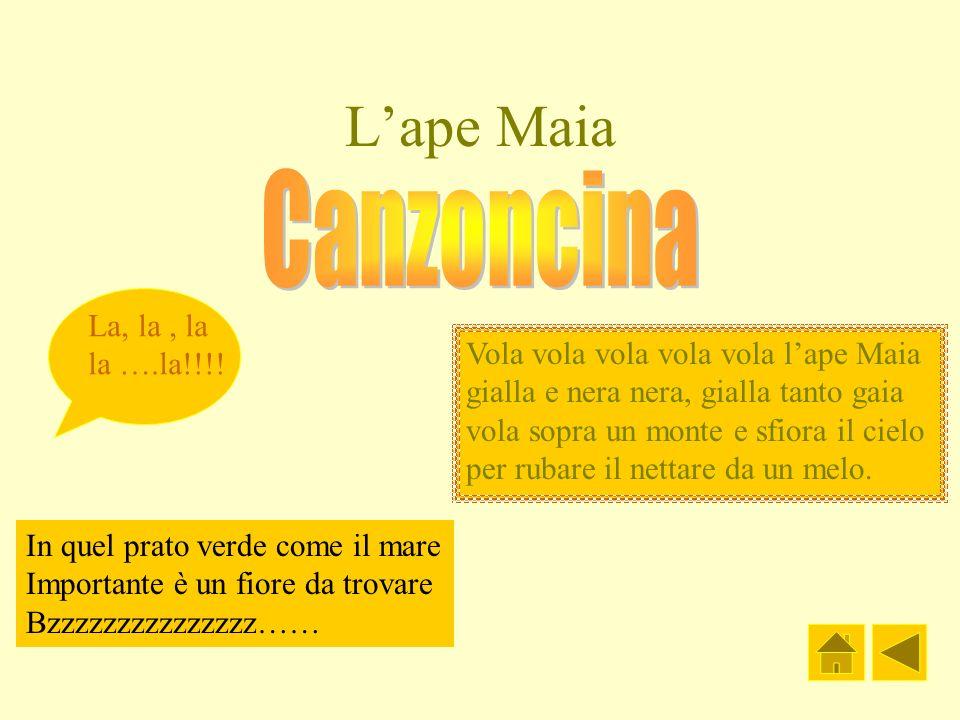 L'ape Maia Canzoncina La, la , la la ….la!!!!
