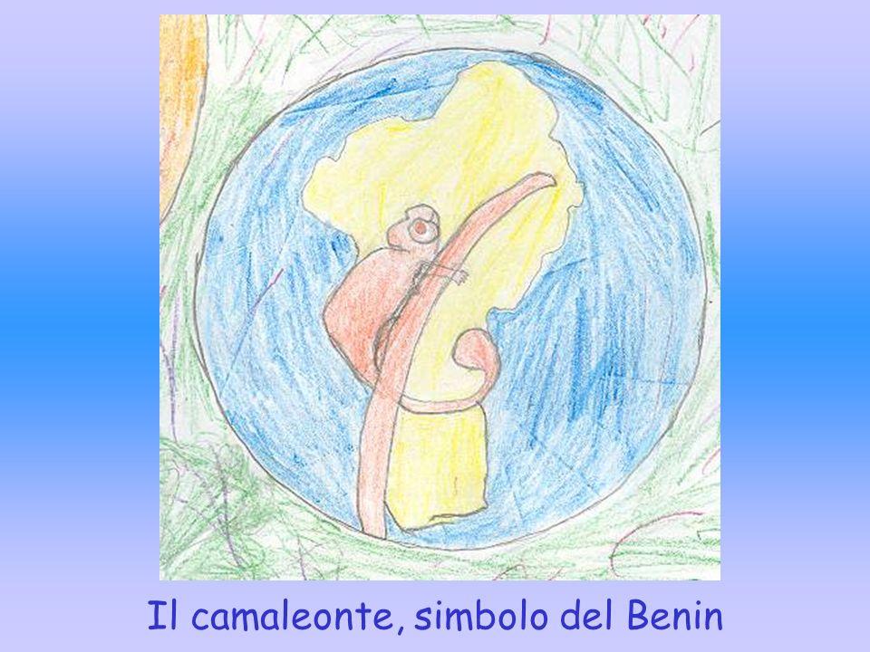 Il camaleonte, simbolo del Benin