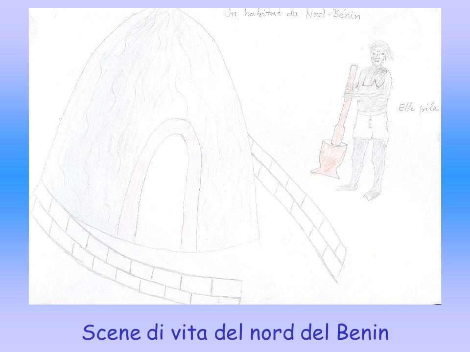Scene di vita del nord del Benin