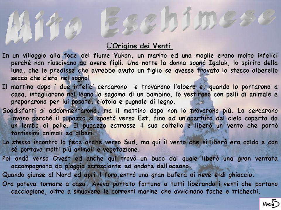 Mito Eschimese L'Origine dei Venti.