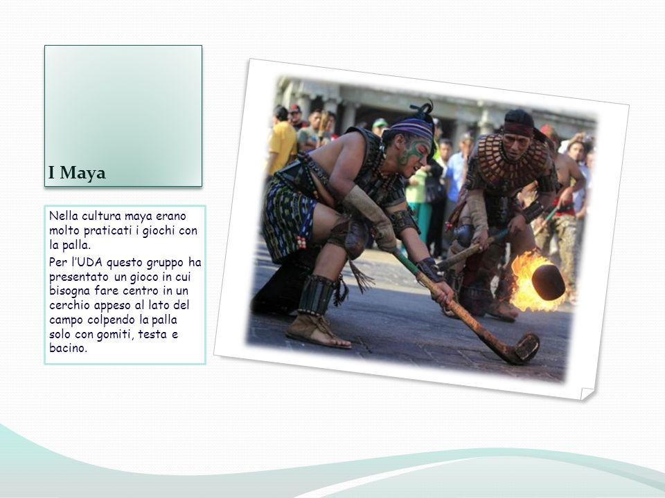 I Maya Nella cultura maya erano molto praticati i giochi con la palla.