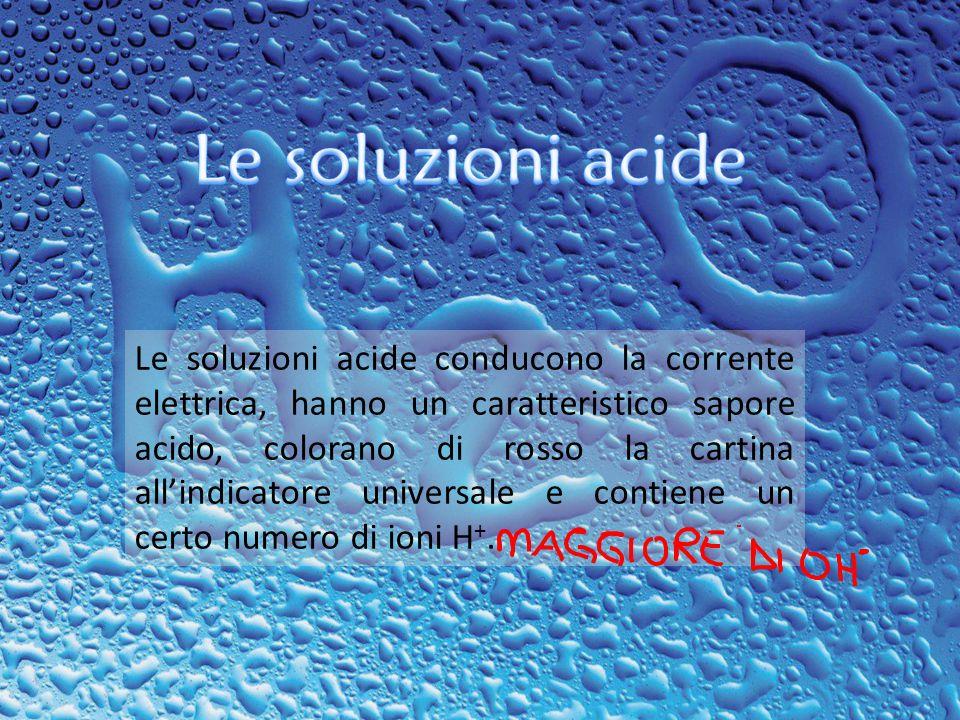 Le soluzioni acide
