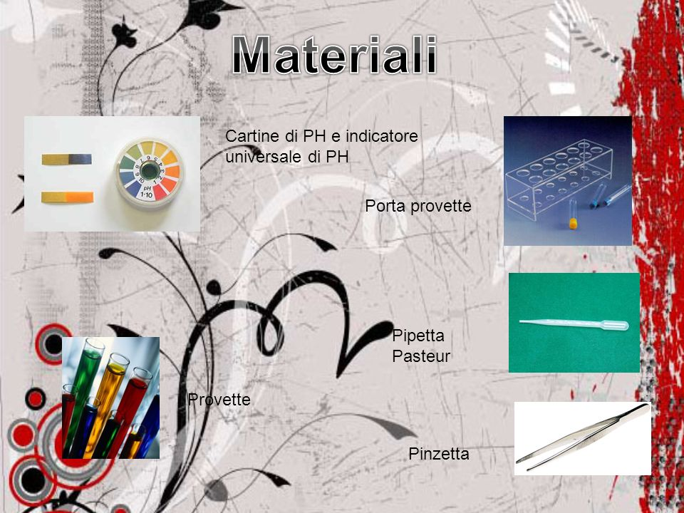 Materiali Cartine di PH e indicatore universale di PH Porta provette