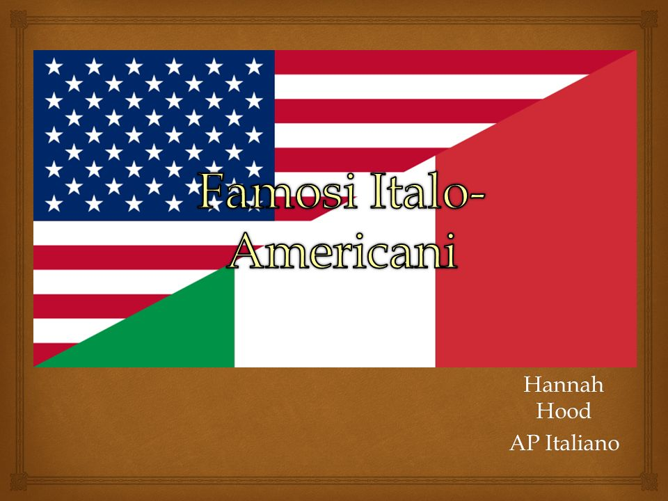 Famosi Italo-Americani