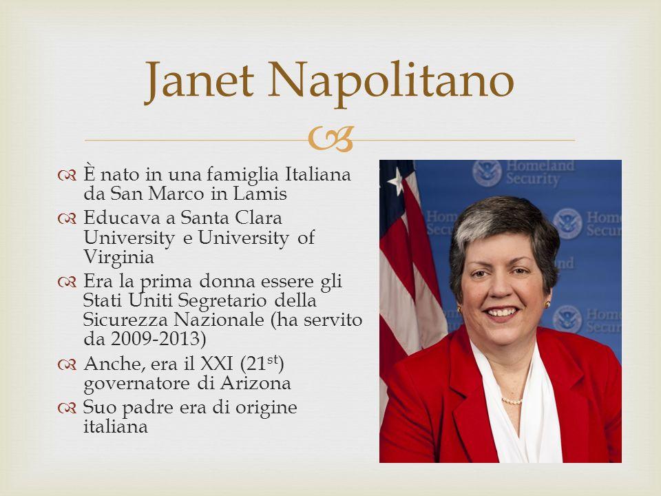 Janet Napolitano È nato in una famiglia Italiana da San Marco in Lamis