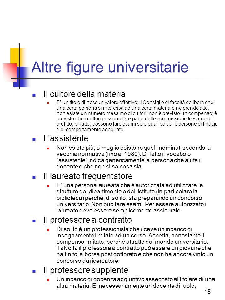Altre figure universitarie