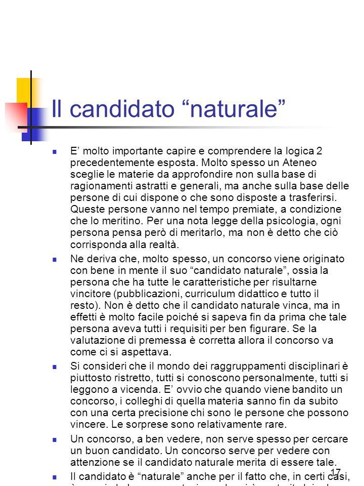 Il candidato naturale