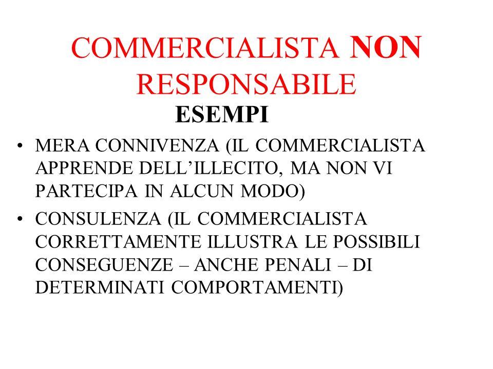 COMMERCIALISTA NON RESPONSABILE