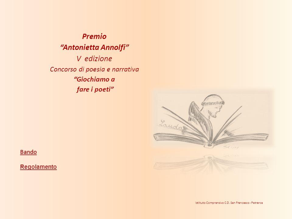Premio Antonietta Annolfi V edizione Concorso di poesia e narrativa