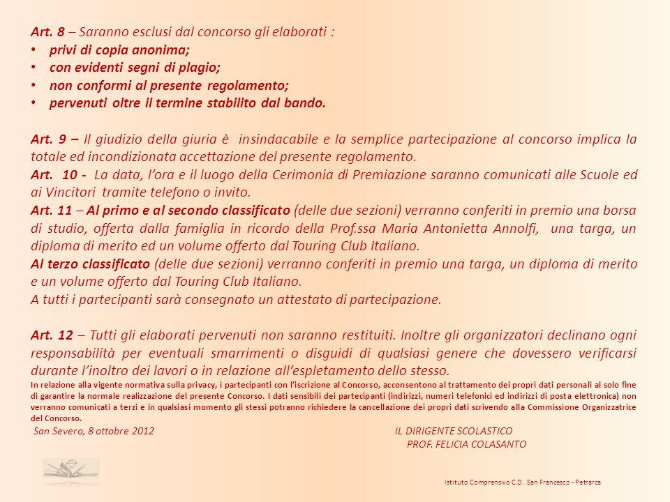 Istituto Comprensivo C.D. San Francesco - Petrarca