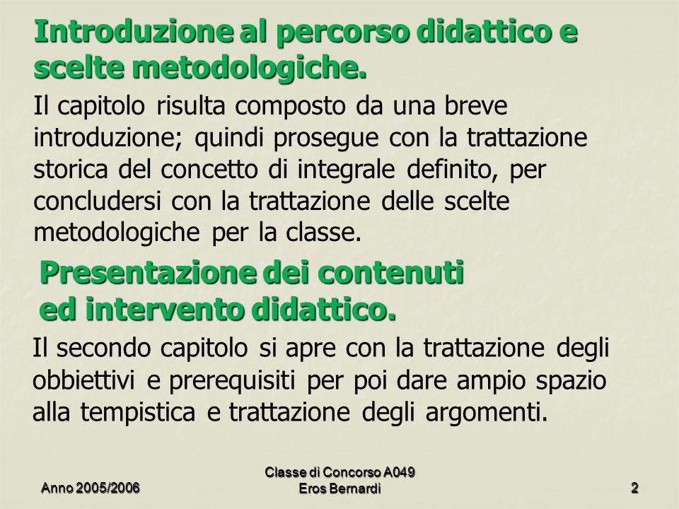 Introduzione al percorso didattico e scelte metodologiche.