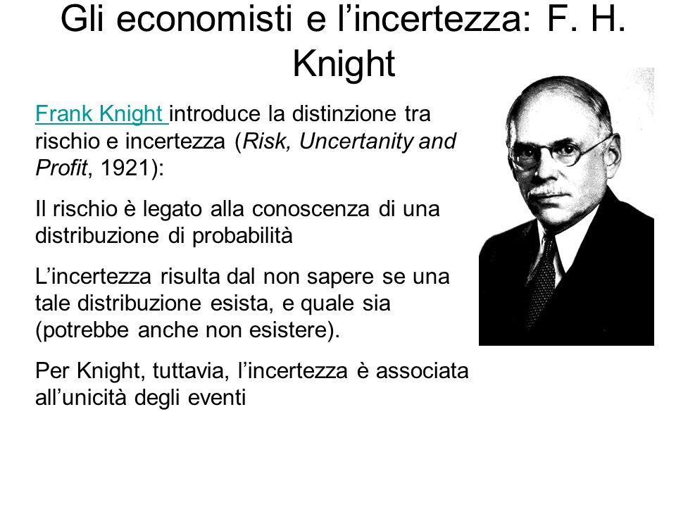 Gli economisti e l'incertezza: F. H. Knight