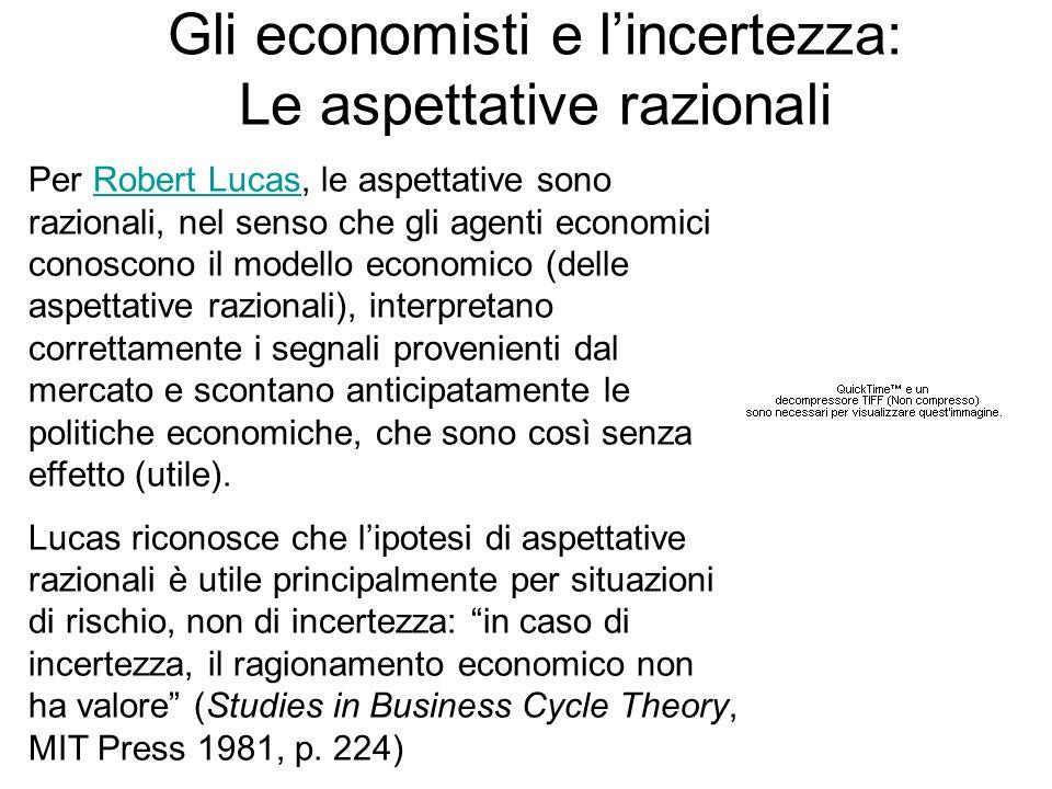 Gli economisti e l'incertezza: Le aspettative razionali