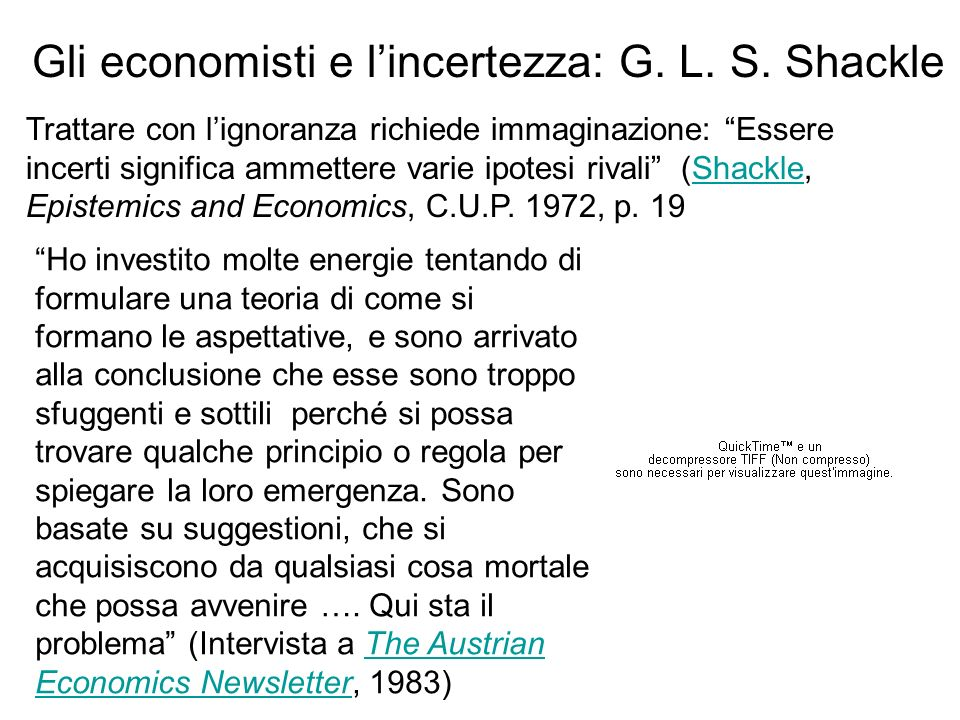 Gli economisti e l'incertezza: G. L. S. Shackle
