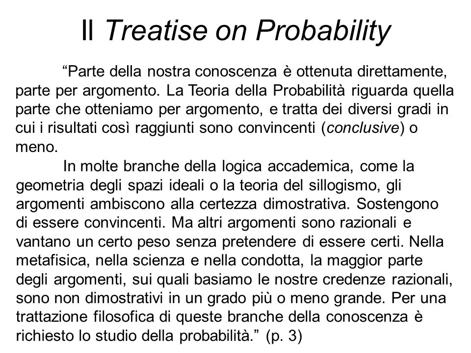 Il Treatise on Probability