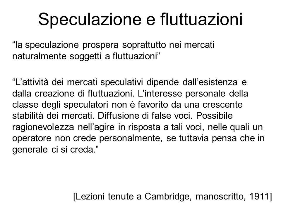 Speculazione e fluttuazioni