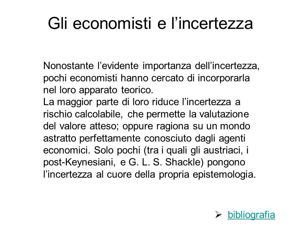 Gli economisti e l'incertezza