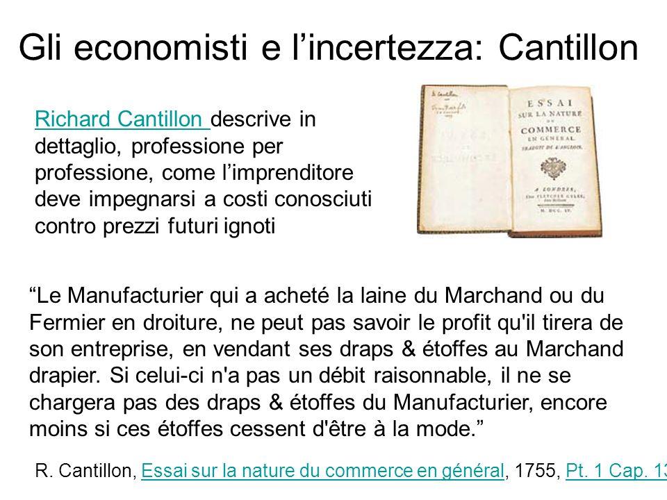 Gli economisti e l'incertezza: Cantillon