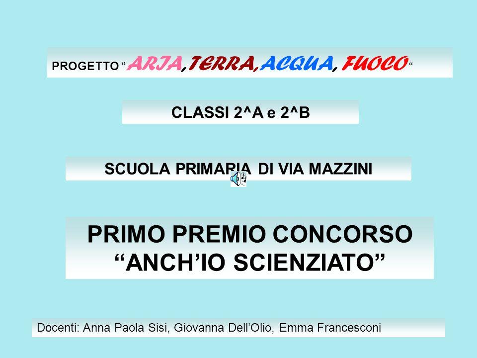 PRIMO PREMIO CONCORSO ANCH'IO SCIENZIATO
