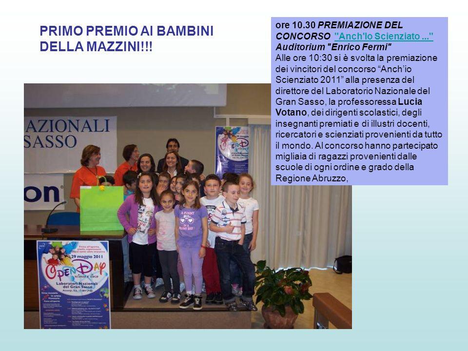 PRIMO PREMIO AI BAMBINI DELLA MAZZINI!!!