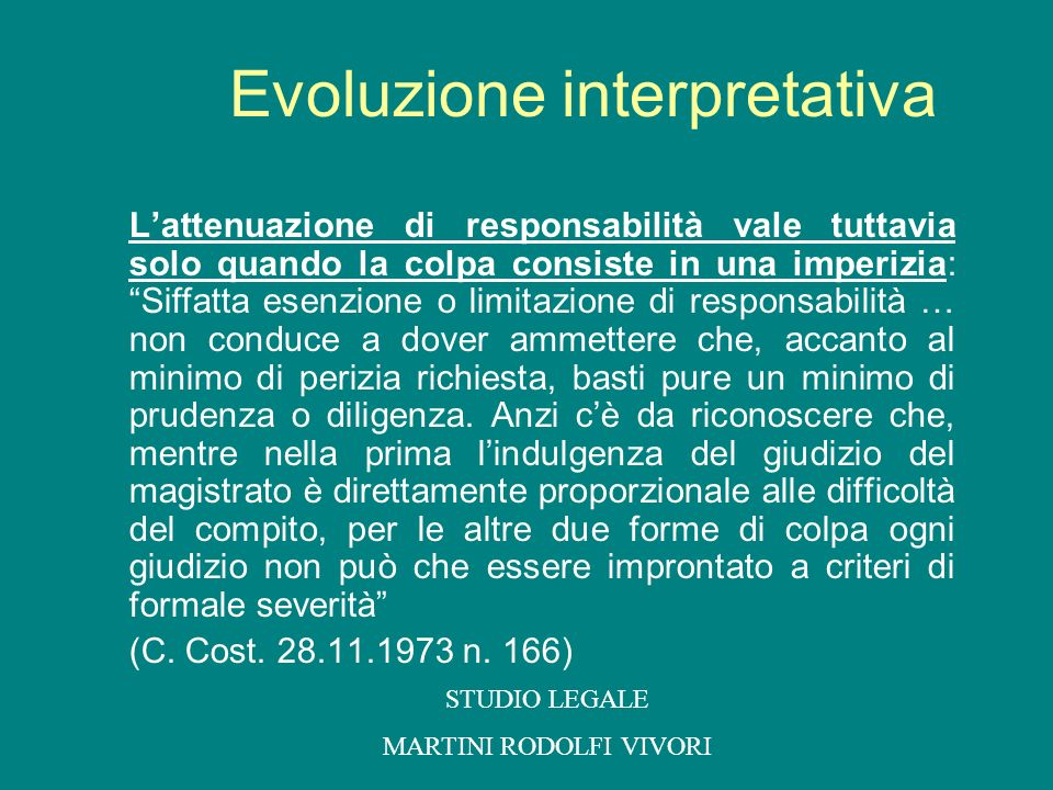 Evoluzione interpretativa