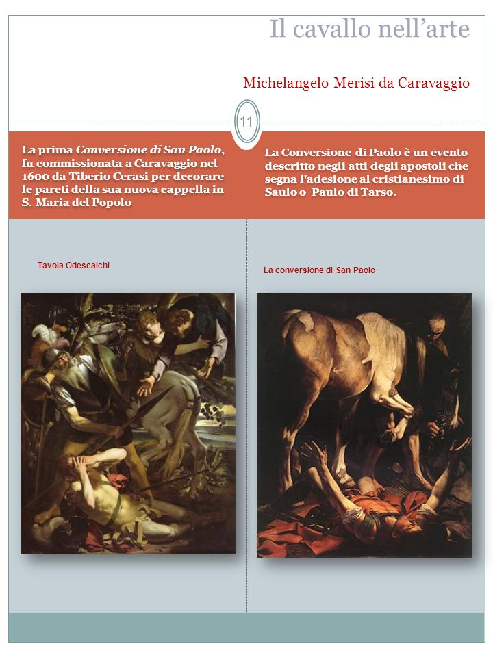 Il cavallo nell'arte Michelangelo Merisi da Caravaggio