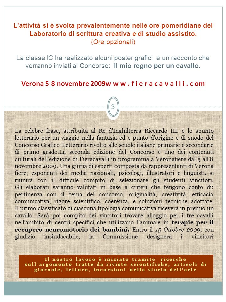 Verona 5-8 novembre 2009w w w . f i e r a c a v a l l i . c om
