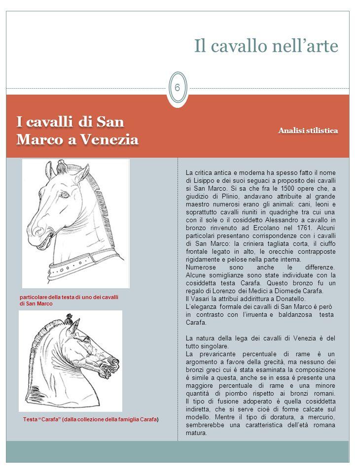 Il cavallo nell'arte I cavalli di San Marco a Venezia