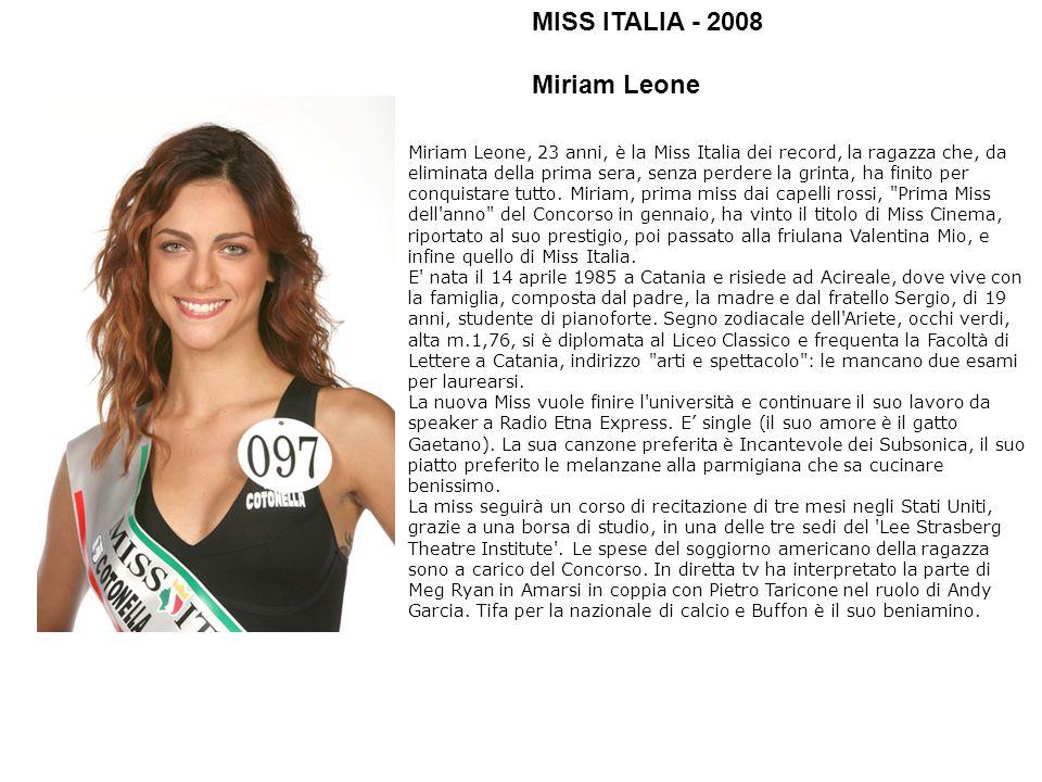 MISS ITALIA - 2008 Miriam Leone