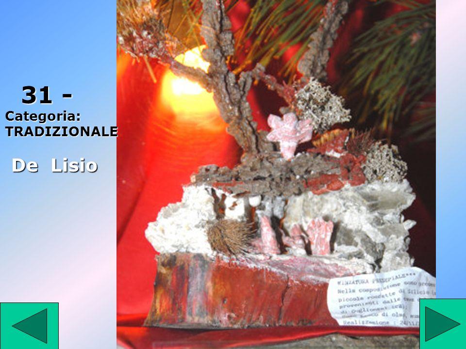 31 31 - Categoria: TRADIZIONALE De Lisio