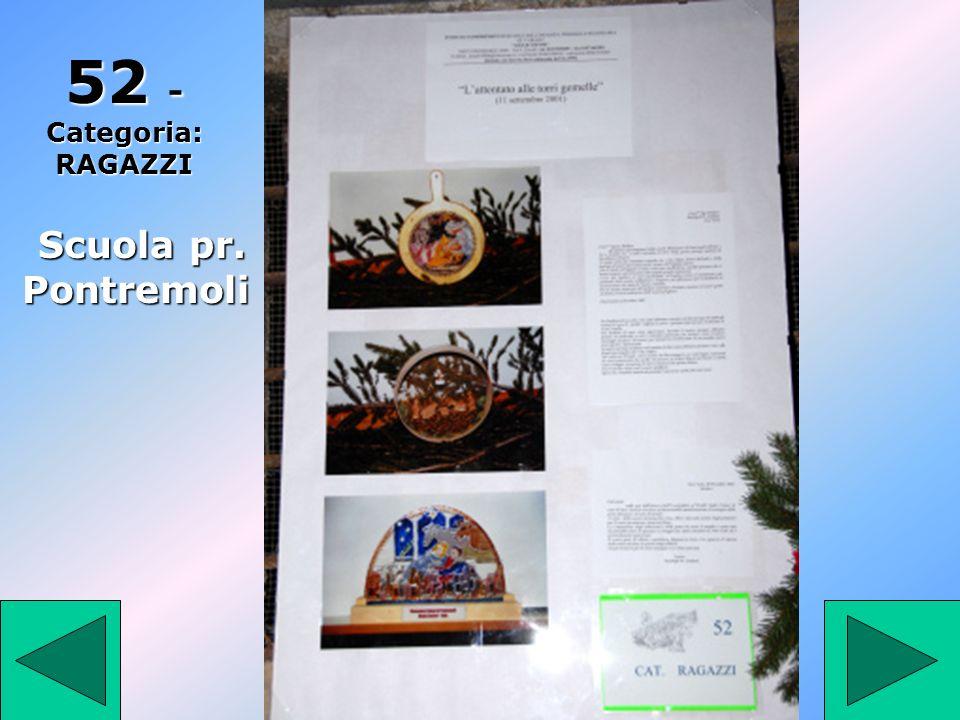 52 - Categoria: RAGAZZI Scuola pr. Pontremoli 52
