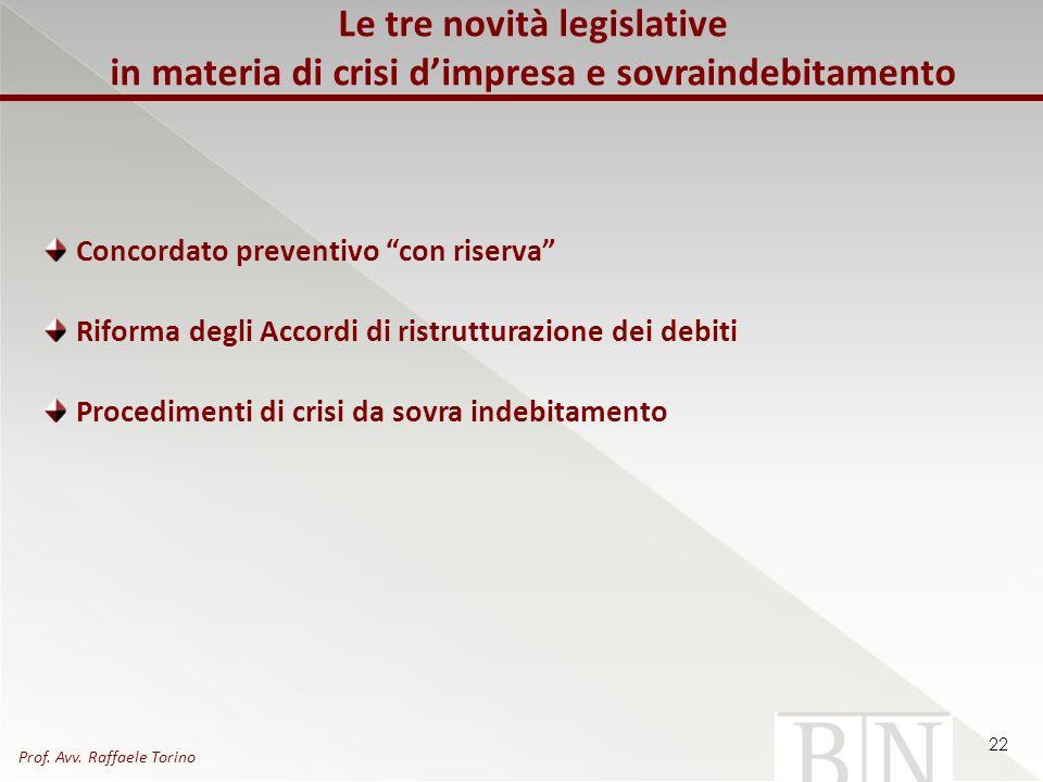 Le tre novità legislative in materia di crisi d'impresa e sovraindebitamento