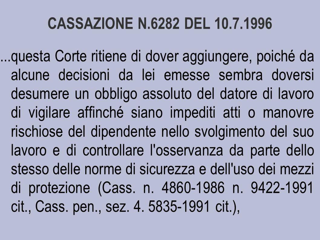 CASSAZIONE N.6282 DEL 10.7.1996