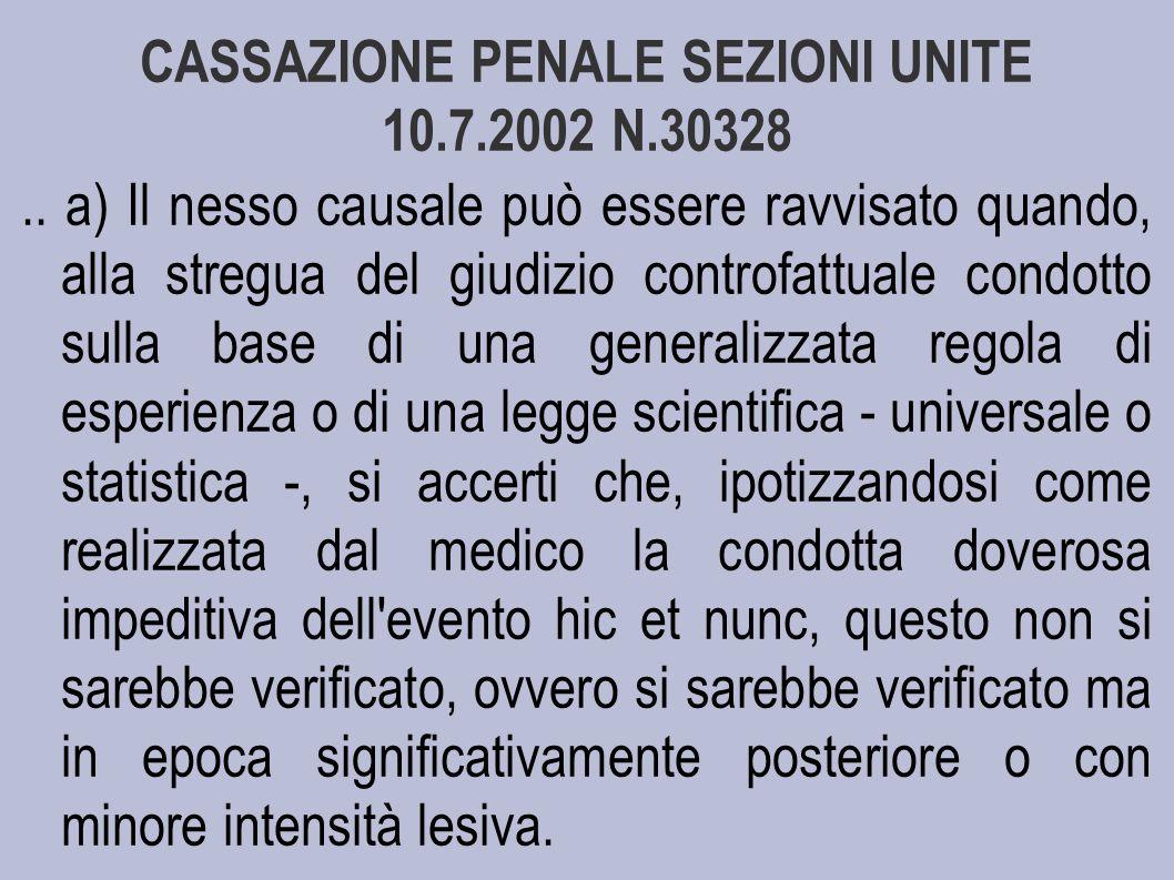 CASSAZIONE PENALE SEZIONI UNITE 10.7.2002 N.30328