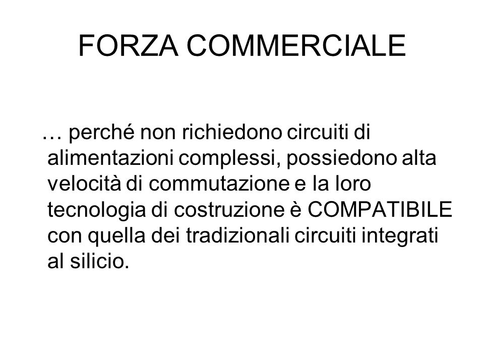 FORZA COMMERCIALE