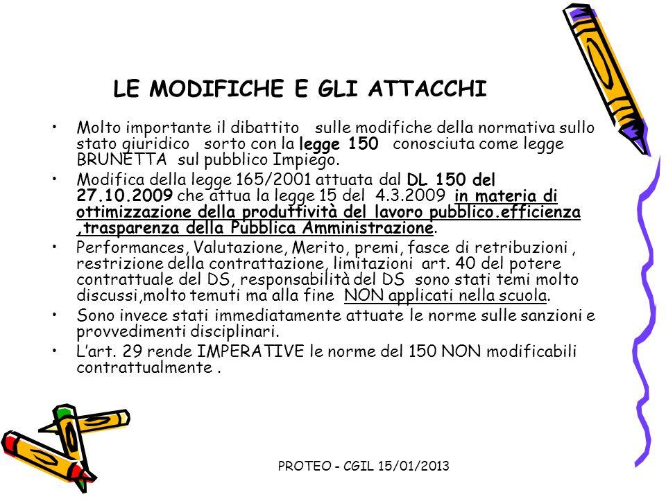 LE MODIFICHE E GLI ATTACCHI