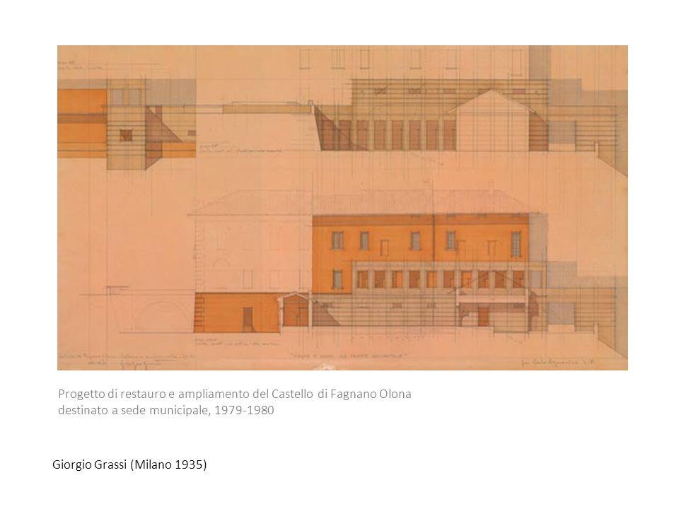 Progetto di restauro e ampliamento del Castello di Fagnano Olona