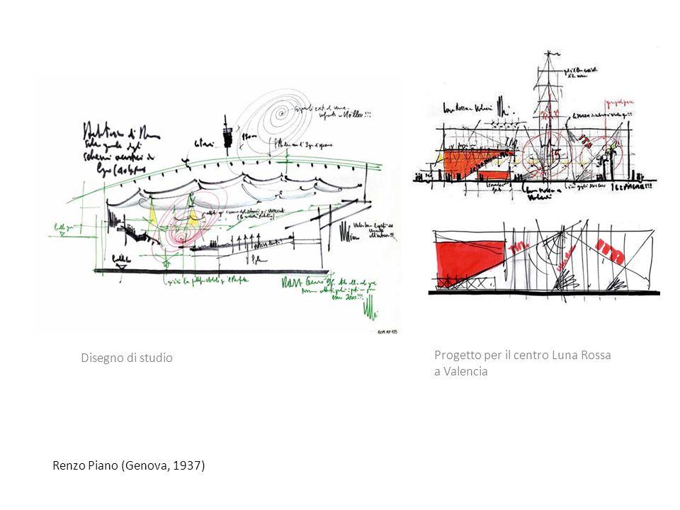 Disegno di studio Progetto per il centro Luna Rossa a Valencia Renzo Piano (Genova, 1937)