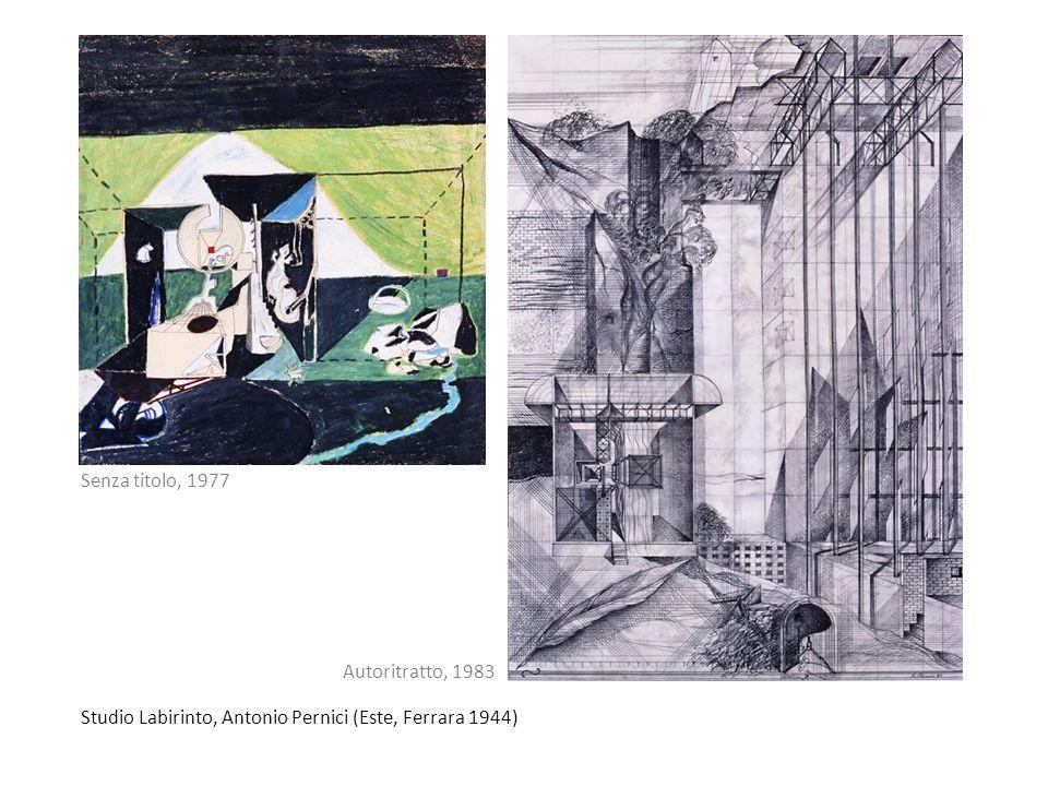 Senza titolo, 1977 Autoritratto, 1983 Studio Labirinto, Antonio Pernici (Este, Ferrara 1944)