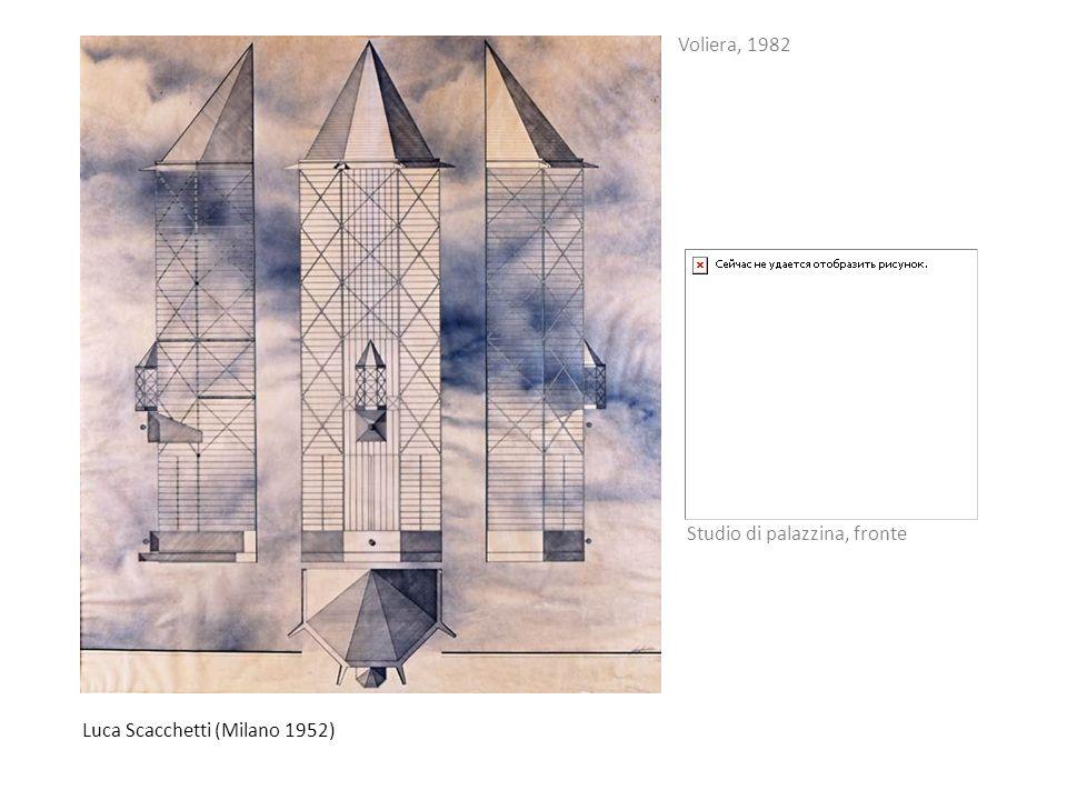 Voliera, 1982 Studio di palazzina, fronte Luca Scacchetti (Milano 1952)