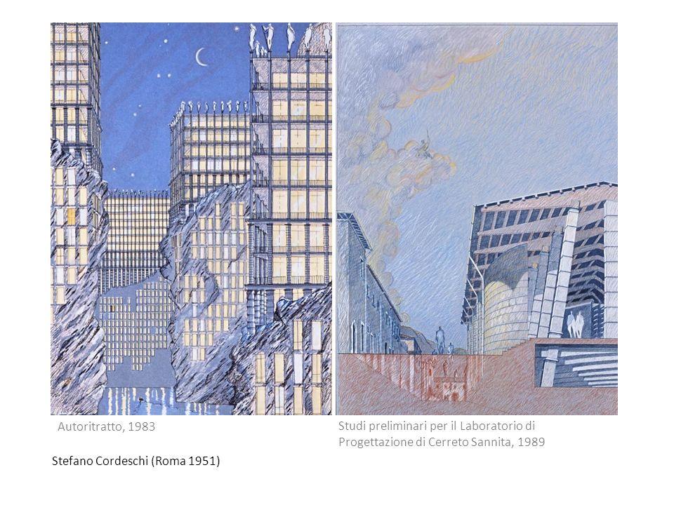 Autoritratto, 1983 Studi preliminari per il Laboratorio di Progettazione di Cerreto Sannita, 1989.