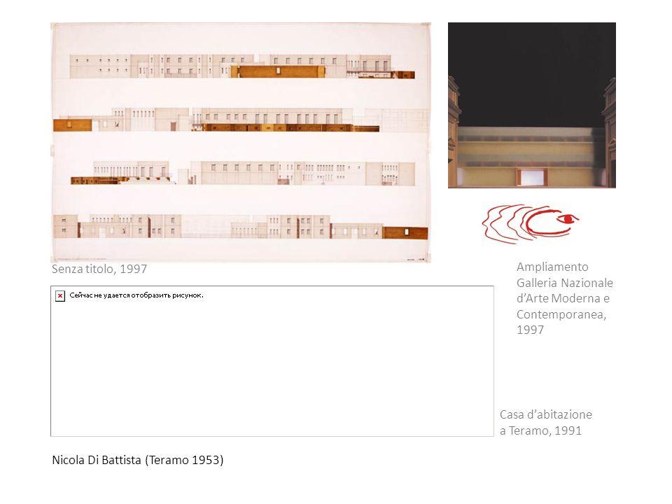 Senza titolo, 1997 Ampliamento Galleria Nazionale d'Arte Moderna e Contemporanea, 1997. Casa d'abitazione.