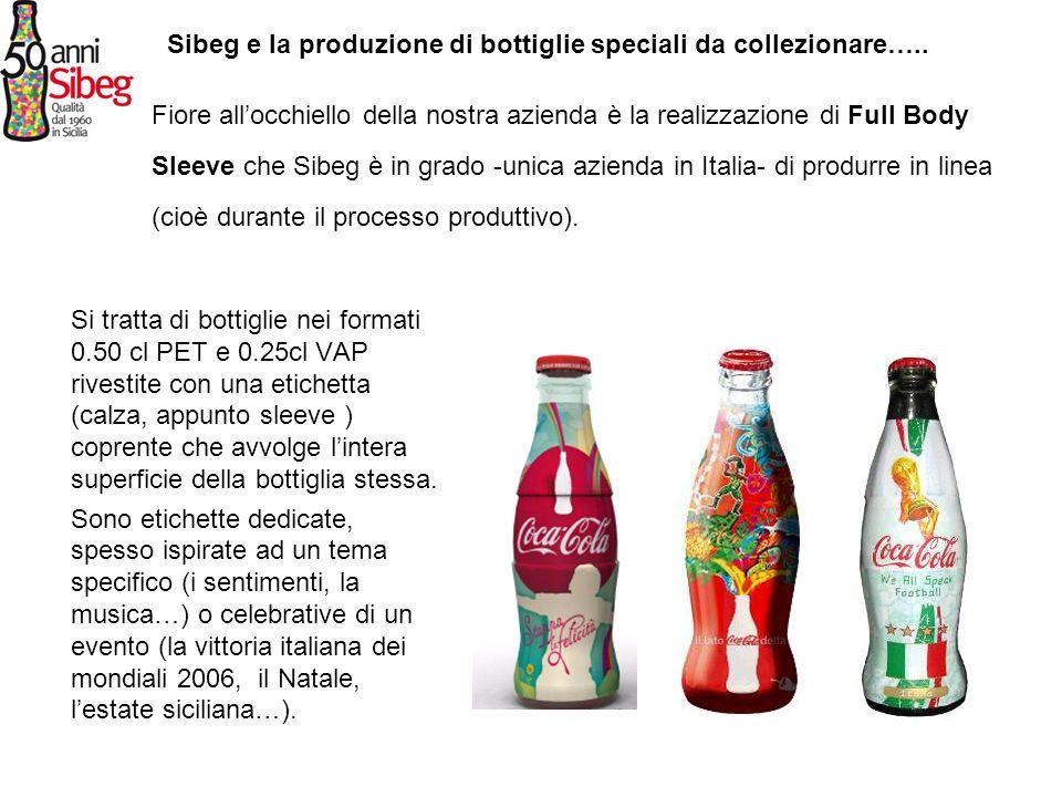Sibeg e la produzione di bottiglie speciali da collezionare…..